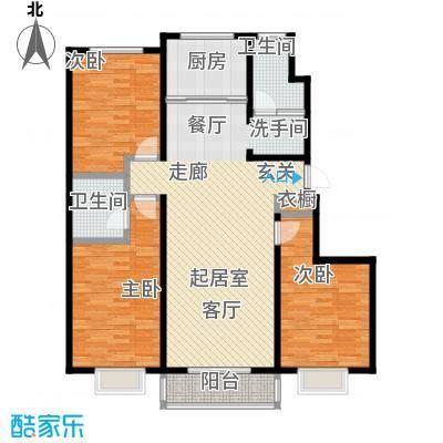 紫阙台3室2厅2卫130.73平米户型3室2厅2卫CC
