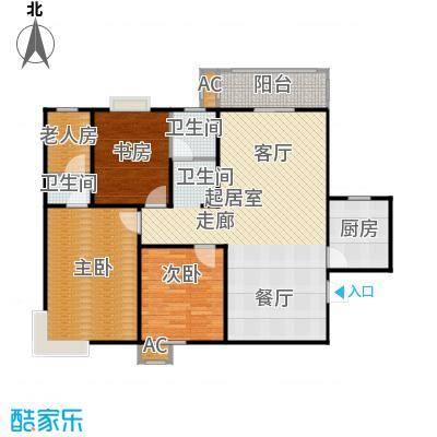 九如居129.29㎡九韵台3室2厅2卫户型3室2厅2卫
