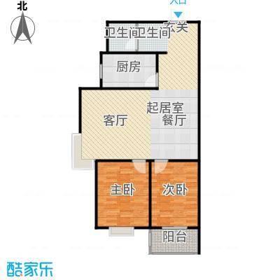 九如居88.58㎡九瑞阁2室2厅1卫户型2室2厅1卫