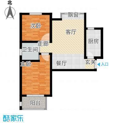 中国铁建・明山秀水87.20㎡户型2室2厅1卫