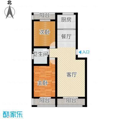 御龙瀚府110.00㎡13/17号楼―A2户型2室2厅1卫
