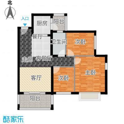 锦绣海湾城85座01单元户型3室1厅1卫1厨