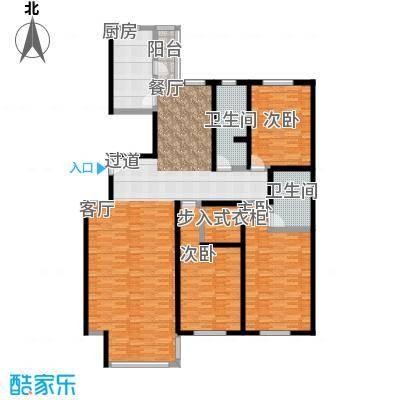 千家和泰・欣家园174.12㎡D户型3室2厅2卫