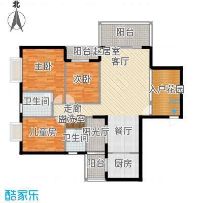 金河铭庄137.01㎡三室三厅一厨两卫户型3室3厅2卫