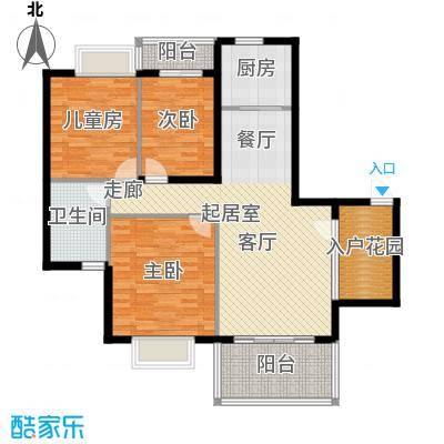 金河铭庄112.17㎡三室两厅一厨一卫户型3室2厅2卫