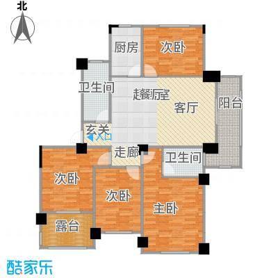 阳光下的红屋顶127.50㎡P户型多层花园洋房户型4室2厅2卫