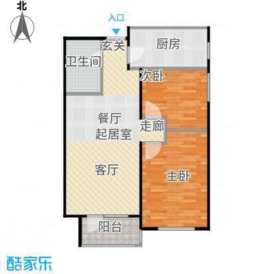 华润凯旋门85.00㎡华润凯旋门两室两厅一卫户型85平米户型2室2厅1卫
