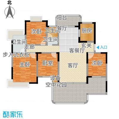 学府港湾户型3室1厅2卫1厨