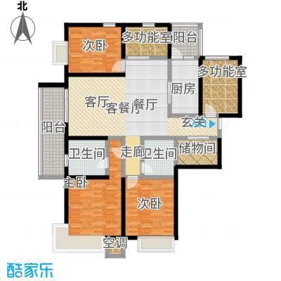 富力十号170.00㎡C区户型4室2厅2卫
