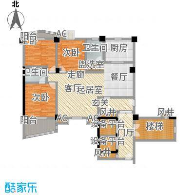 世纪名城-T户型3室2卫1厨