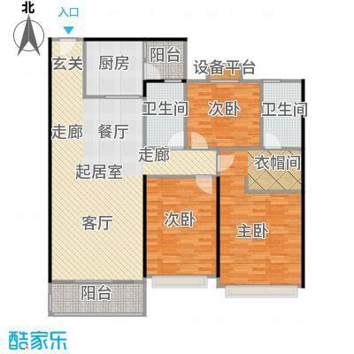 恒大中心2-5#楼标准层130平户型3室2厅2卫