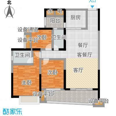 正和中州127.00㎡14栋02单元户型3室2厅2卫
