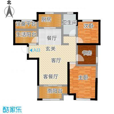 华润熙云府户型3室1厅1卫1厨
