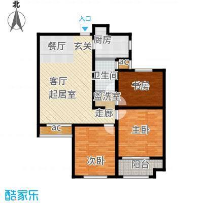 鲁邦・奥林逸城112.00㎡112平户型3室2厅1卫