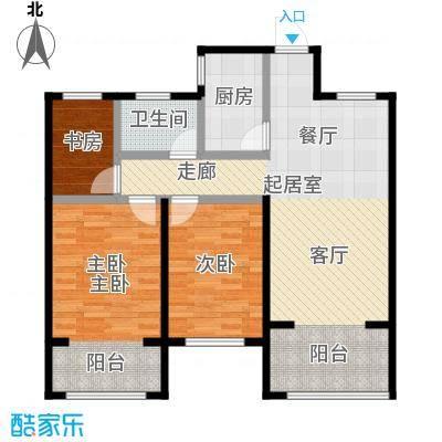 圣联梦溪小镇95.00㎡12、14号楼户型3室1卫1厨