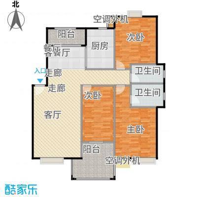 浔城湖锦121.40㎡C1户型 三居室 121.4平米户型3室2厅2卫