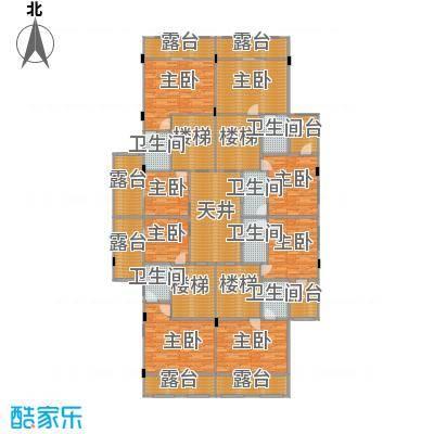 大旺・海印又一城230.00㎡C户型(合院)户型8室3厅4卫