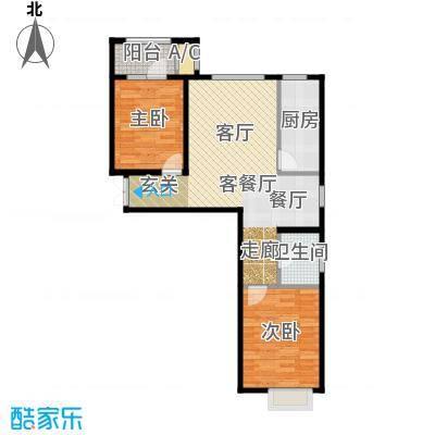 贻成・御景狮城92.00㎡B3户型2室2厅1卫