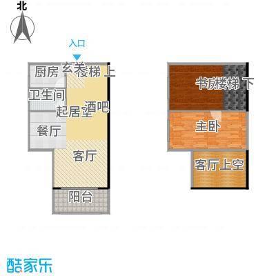 大旺・海印又一城61.14㎡C座 01单位 18层户型