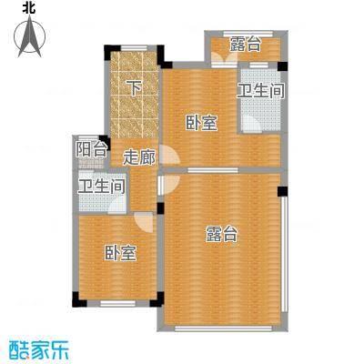 尚荟海岸88.68㎡a3三层户型2卫