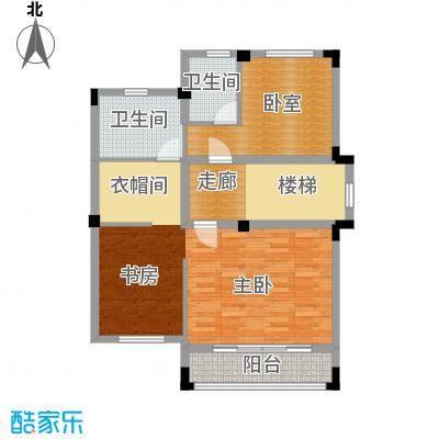 尚荟海岸82.70㎡a2二层户型1室2卫