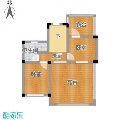 尚荟海岸70.64㎡a1三层户型1卫