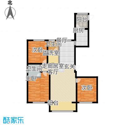 昆仑唐人中心142.00㎡C1户型3室2厅2卫