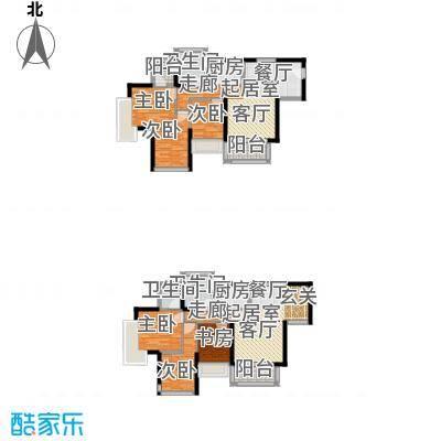 宝翠苑152.23㎡B栋B1户型6室3卫2厨
