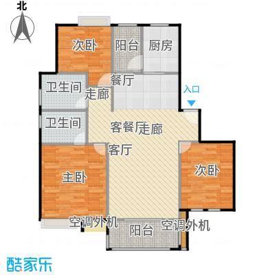 浔城湖锦99.20㎡A1户型 3居室 99.20平米户型3室2厅2卫