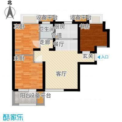 锦绣天地16C户型3室2厅1卫