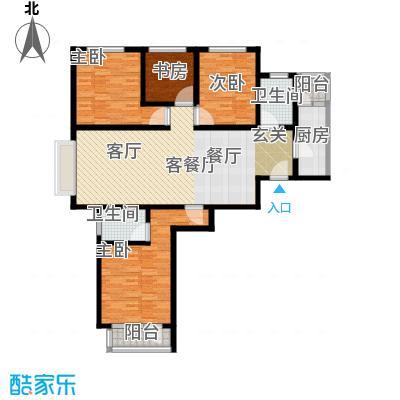 山水芳邻户型4室1厅2卫1厨