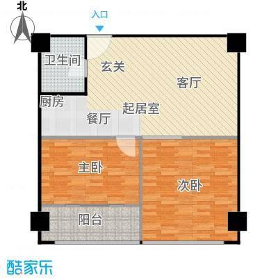 科技鑫城户型2室1卫