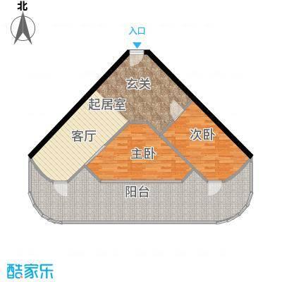 东能银滩户型2室