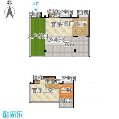 东能银滩户型1室1厅2卫1厨