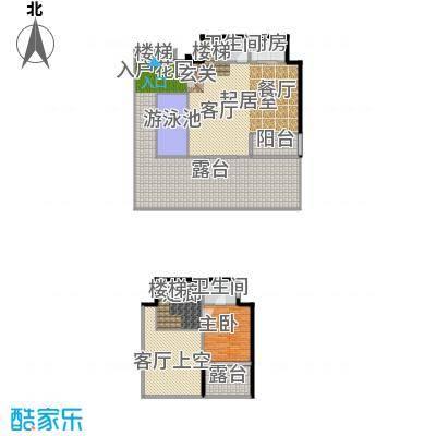 东能银滩户型1室2卫1厨