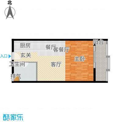 佳源东方不夜城80.00㎡单身公寓3#01户型1室2厅1卫1厨户型1室2厅1卫
