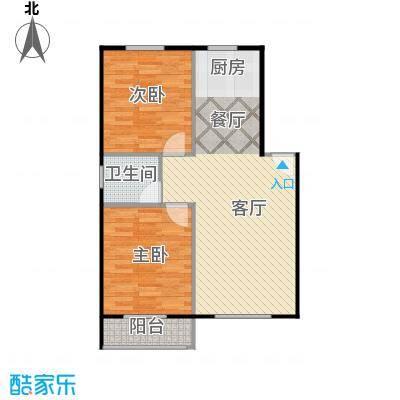 龙屿・香醍溪苑90.00㎡户型2室2厅1卫