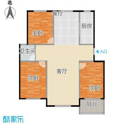 龙屿・香醍溪苑127.00㎡户型3室2厅1卫