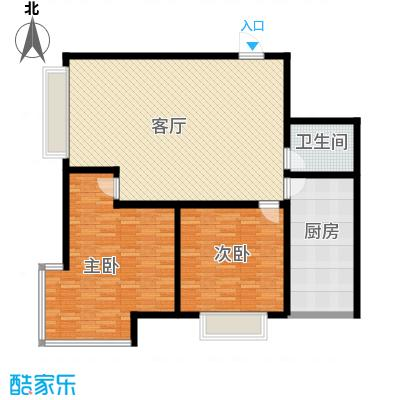 公务员小区(二期)113.17㎡二室一厅一卫户型