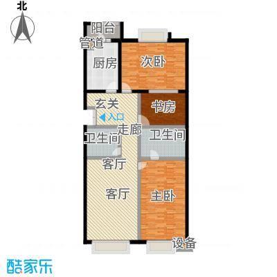 公务员小区(二期)158.08㎡二室二厅二卫户型