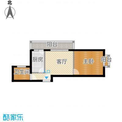 新世家小区59.17㎡D3户型1室1厅1卫