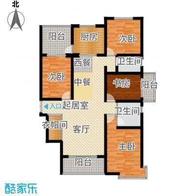 天水丽城二期159.61㎡F户型-四室两厅两卫户型4室2厅2卫