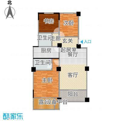 阳光下的红屋顶104.50㎡C户型多层花园洋房户型3室2厅2卫