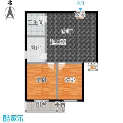 御龙苑98.78㎡御龙苑3号楼3户型2室1厅1卫1厨 98.78平米户型2室1厅1卫