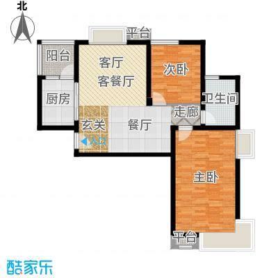 君域豪庭87.00㎡G1户型2室2厅1卫