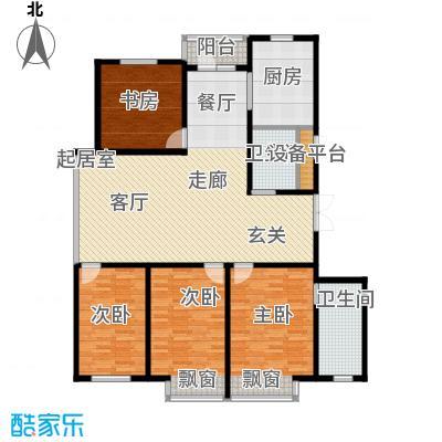 丽水华城(四期)168.72㎡P户型4室2厅2卫