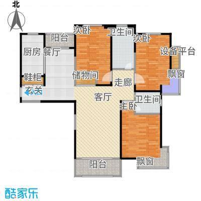 宝华城市花园109-149平方米3室2厅2卫户型3室2厅2卫