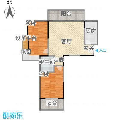 宝华城市花园83-108平方米2室1厅1卫户型2室1厅1卫