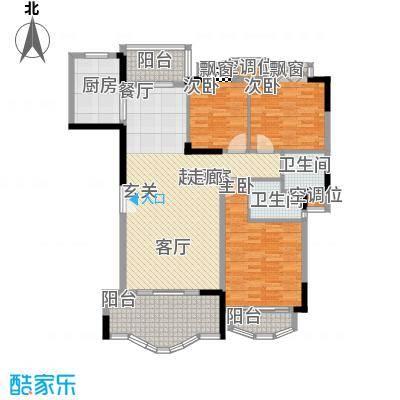 中仪花园139.00㎡7栋02单位,8栋01,02单位 三房二厅二卫户型3室2厅2卫