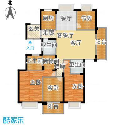栖霞栖园162.00㎡F户型4室2厅2卫